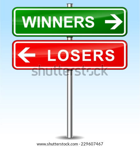illustration of winners and losers directional sign - stock vector Angry Black Woman Face