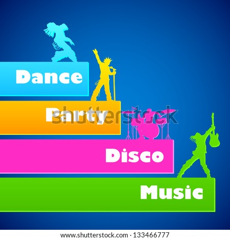 illustration of youth performing music in rock band - stock vector