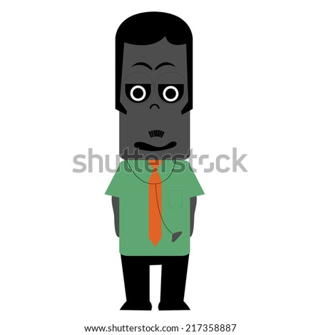 Illustration of zombie doctor - stock vector