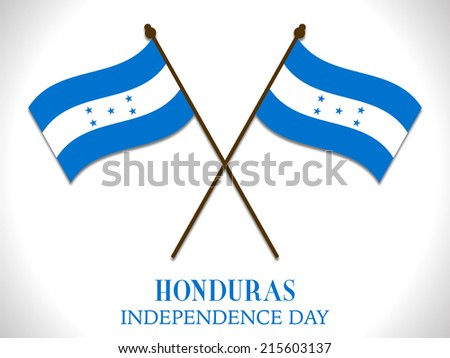 Illustration On Happy Independence day of Honduras - stock vector