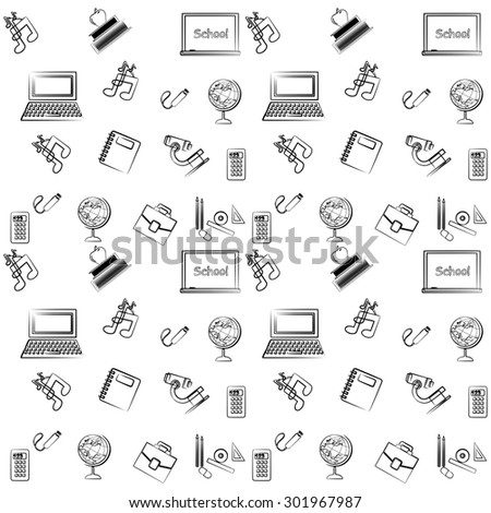 illustration on the subject of education and school.  - stock vector