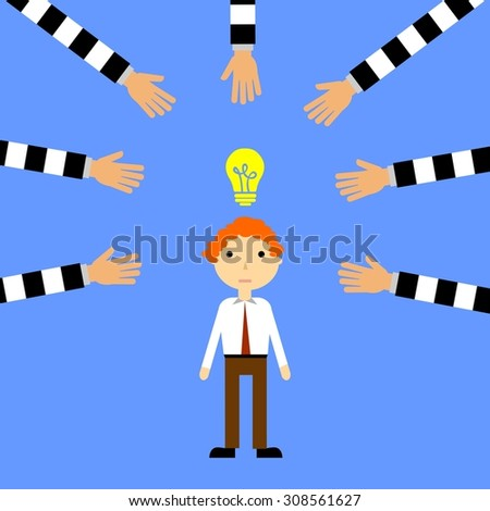 illustration on the theme of a criminal offense - theft. - stock vector