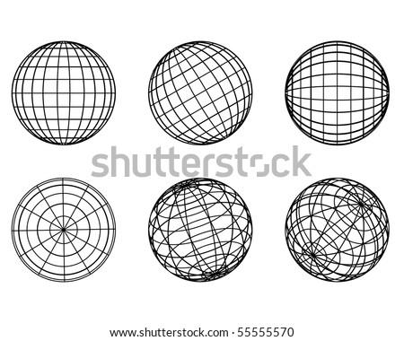 Illustration: original globe elements-spheres - stock vector