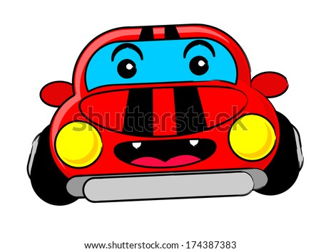 illustration vector graphic cartoon character of car - stock vector