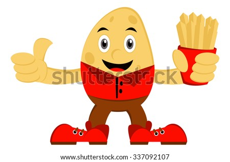 Illustration vector graphic cartoon character of potato  - stock vector