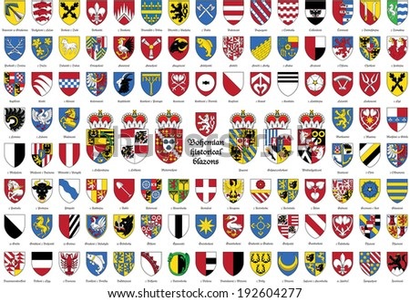 illustration, vector, historical coat of arms - stock vector