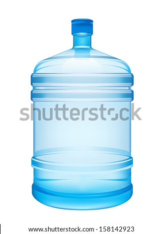illustration with a bottle of water - stock vector