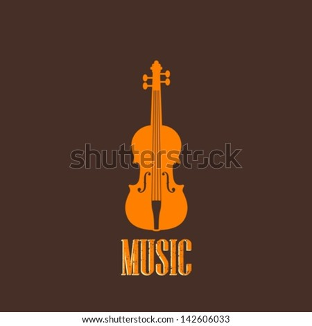 illustration with a violin - stock vector