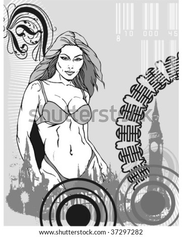 illustrations created by hand and last to digital of very high quality to satisfy the necessities of the designers - stock vector