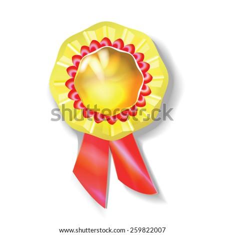 illustrations, vector, medal, gold, award - stock vector