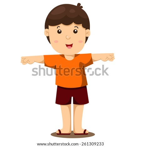 Illustrator of boy - stock vector