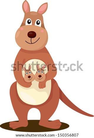 Illustrator of kangaroo - stock vector