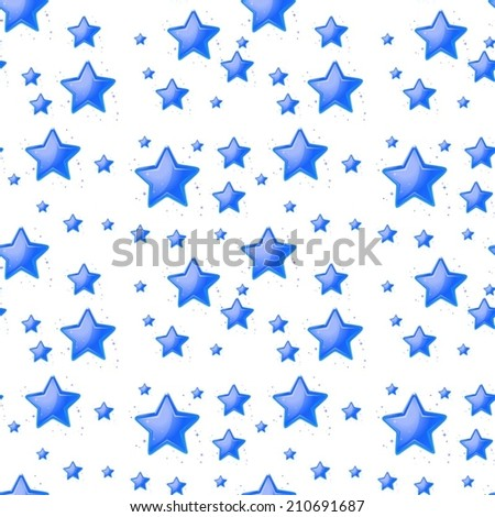 Ilustration of a blue star background - stock vector