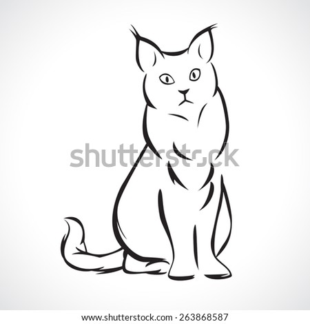 image graphic style of cat  isolated on white background - stock vector