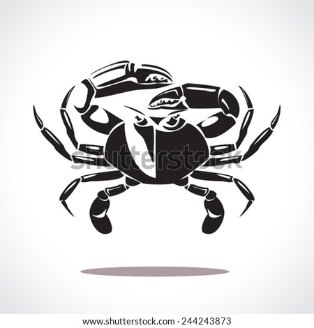 image graphic style of crab  isolated on white background - stock vector