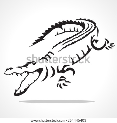 image graphic style of crocodile  isolated on white background - stock vector