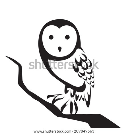 image graphic style of owl  isolated on white background - stock vector