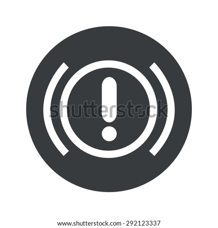 Image of alert sign in black circle, isolated on white - stock vector