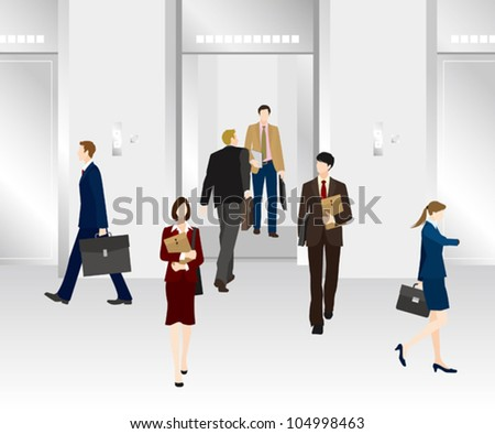 Image of business / Elevator - stock vector