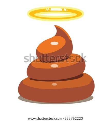 Image of holy shit. Brown color. White background. vector illustration - stock vector