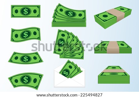 image of money. - stock vector
