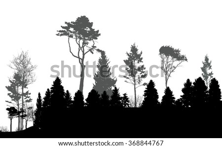 Image of Nature. Tree Silhouette. Eco banner. Vector Illustration. EPS10 - stock vector