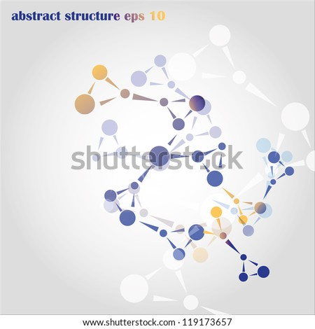 Image of the molecular structure. - stock vector