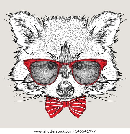 Raccoon Tattoo Stock Photos, Images, & Pictures | Shutterstock Raccoon Face Illustration