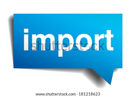 import blue 3d realistic paper speech bubble isolated on white - stock vector