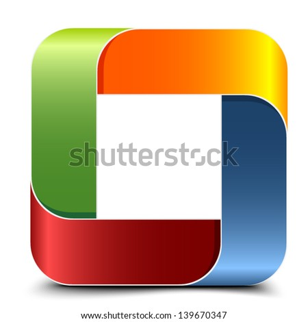 Impossible rectangle sign - stock vector