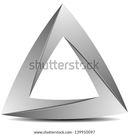Impossible triangle - stock vector