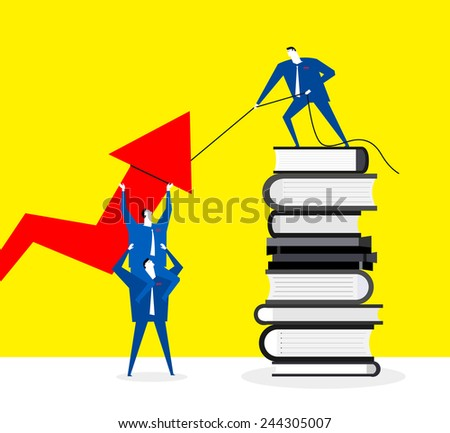 Improving efficiency by expertise - stock vector