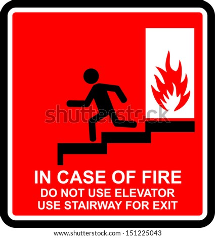 in case of fire - stock vector