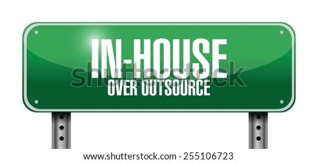 in-house road sign illustration design over a white background - stock vector