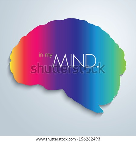 In my mind. Vector illustration. - stock vector