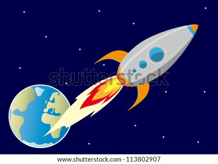 In the space - stock vector