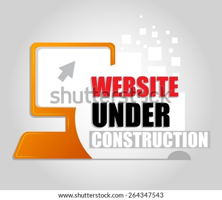 in vector Signal of Under Construction - stock vector