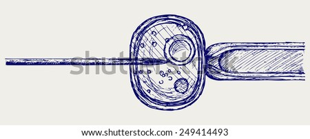 In vitro fertilisation. IVF. Doodle style - stock vector