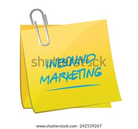 inbound marketing memo post illustration design over a white background - stock vector