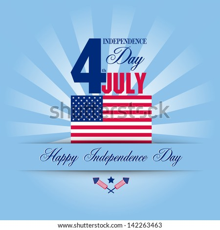 Independence Day card. July 4 - stock vector