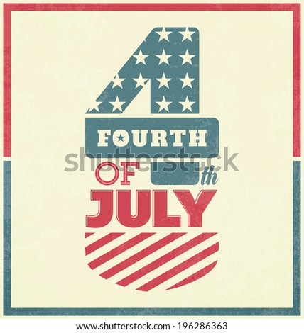 Independence Day Design - 4th of July - stock vector