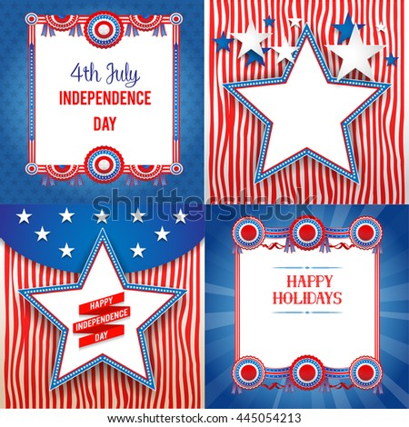 Independence day holiday backgrounds with place for text. Independence day card. Holiday template for design banner,ticket, leaflet, card, poster and so on. - stock vector