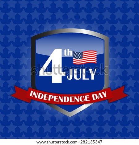 Independence Day Poster Vector Illustration Eps10 - stock vector