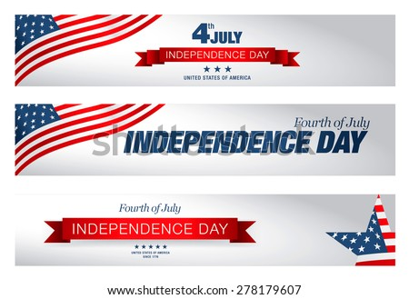 independence day 4 th july. Happy independence day - stock vector