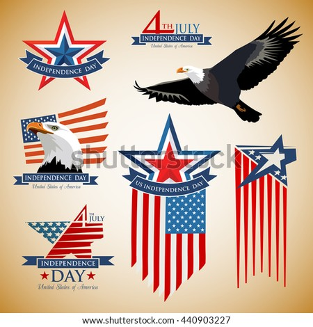Independence Day. US Independence Day. Design elements Independence Day. Happy Independence Day. Independence Day 4th july 1776. - stock vector