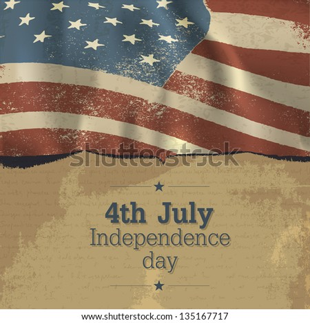 Independence day vintage poster design. Vector, EPS10 - stock vector