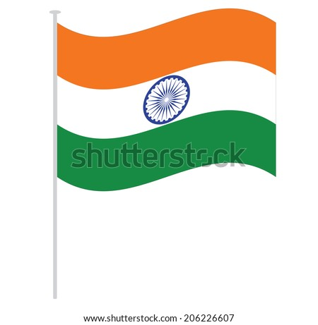 india flag - stock vector