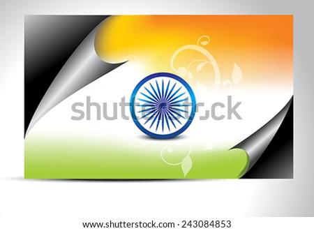Indian flag wrap concept vector illustration   - stock vector