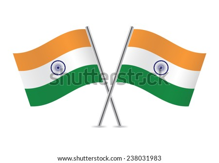 Indian flags. Vector illustration.  - stock vector