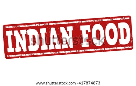 Indian food grunge rubber stamp on white background, vector illustration - stock vector
